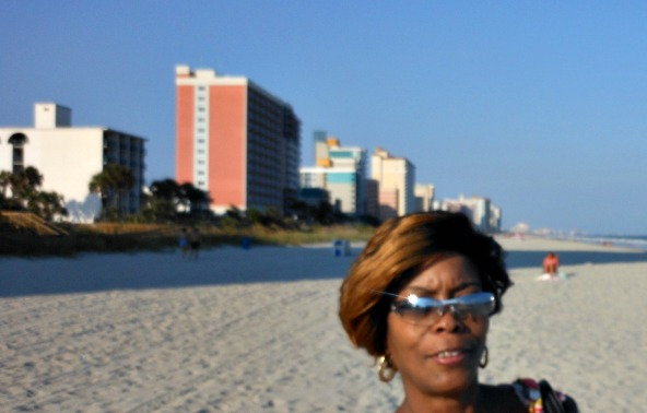 Lottery Winner Sandra Hayes Enjoying a Vacation in Florida