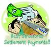 He wanted to get 'structured settlement payments' the easy way